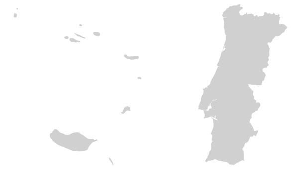 mapa de portugal simples RPA   Rede Portuguesa de Aerobiologia mapa de portugal simples